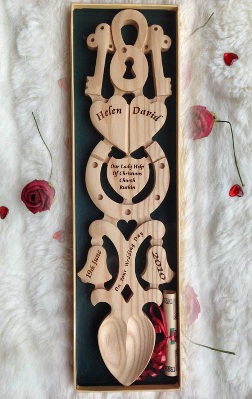 Wedding or Anniversary Welsh Love Spoon P131