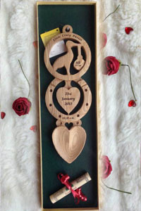 Christening Welsh Love Spoons
