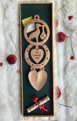 Christening Welsh Love Spoon Engraved CH1