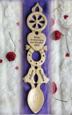 Wedding or Anniversary Lovespoon Engraved L87