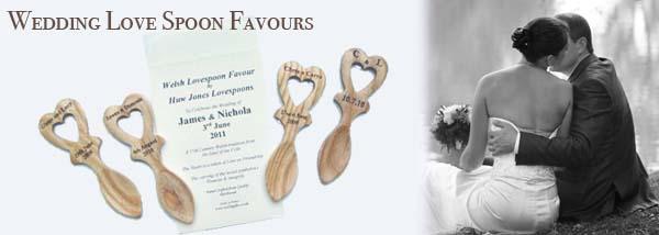 Wedding welsh love spoon favours