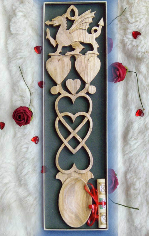 Welsh Dragon Love Spoon P142