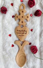 Welsh Love Spoon Engraved G63