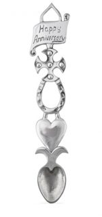 anniversary pewter love spoon