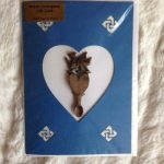 welsh dragon Love Spoon Card blue