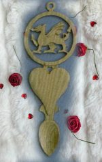 welsh dragon love spoon KD2