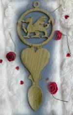 welsh dragon love spoon KD2
