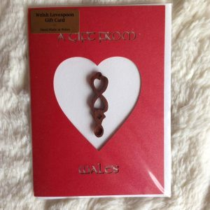 welsh love spoon card red