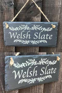 Personalised Welsh Slate Signs